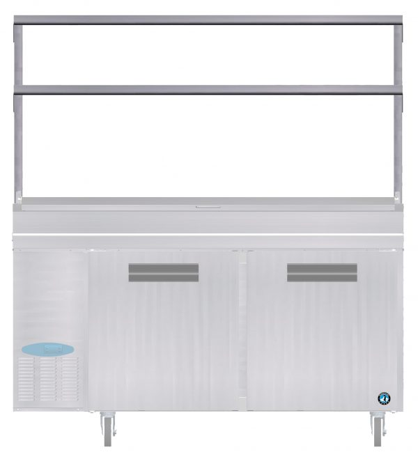 """Double Overshelf for 67"""" W Pizza Cabinets"""