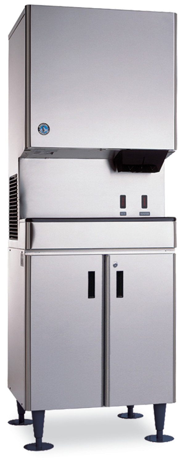 Icemaker/Dispenser Stand with Lockable Doors